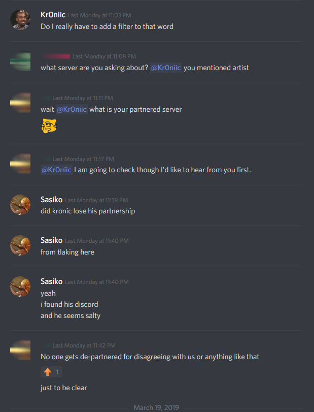 Discord asking Partners to sanitize servers of speech not fit for